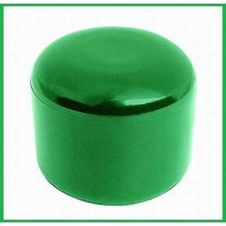 Krytka na stĺpik - PVC zelená, čierna